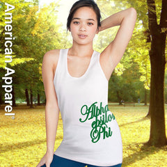 Alpha Epsilon Phi Sorority Printed Tank Top - American Apparel 2408W - CAD