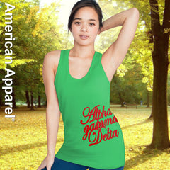 Alpha Gamma Delta Sorority Printed Tank Top - American Apparel 2408W - CAD