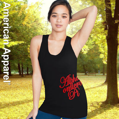 Alpha Omicron Pi Sorority Printed Tank Top - American Apparel 2408W - CAD