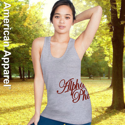 Alpha Phi Sorority Printed Tank Top - American Apparel 2408W - CAD