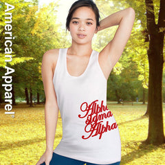 Alpha Sigma Alpha Sorority Printed Tank Top - American Apparel 2408 - CAD