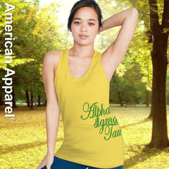 Alpha Sigma Tau Sorority Printed Tank Top - American Apparel 2408W - CAD