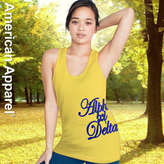 Alpha Xi Delta Sorority Printed Tank Top - American Apparel 2408W - CAD
