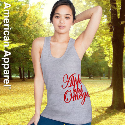 Alpha Chi Omega Sorority Printed Tank Top - American Apparel 2408 - CAD
