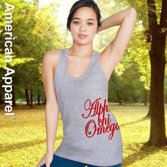 Alpha Chi Omega Sorority Printed Tank Top - American Apparel 2408W - CAD