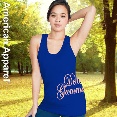 Delta Gamma Sorority Printed Tank Top - American Apparel 2408 - CAD