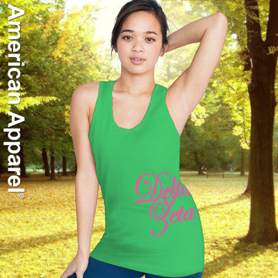 Delta Zeta Sorority Printed Tank Top - American Apparel 2408W - CAD