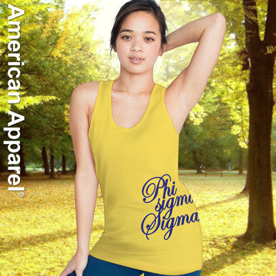 Phi Sigma Sigma Sorority Printed Tank Top - American Apparel 2408 - CAD