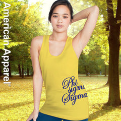 Phi Sigma Sigma Sorority Printed Tank Top - American Apparel 2408W - CAD