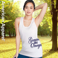 Gamma Phi Omega Sorority Printed Tank Top - American Apparel 2408 - CAD