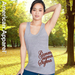 Gamma Sigma Sigma Sorority Printed Tank Top - American Apparel 2408 - CAD