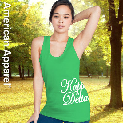 Kappa Delta Sorority Printed Tank Top - American Apparel 2408W - CAD