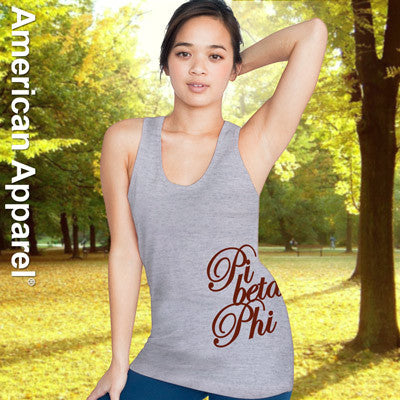 Pi Beta Phi Sorority Printed Tank Top - American Apparel 2408W - CAD