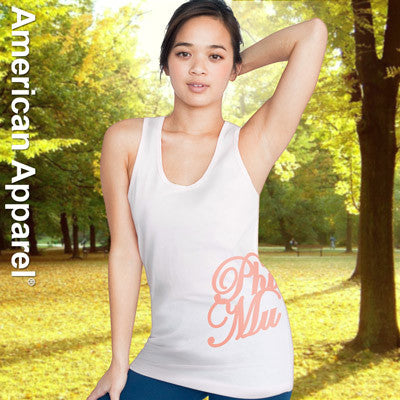 Phi Mu Sorority Printed Tank Top - American Apparel 2408W - CAD