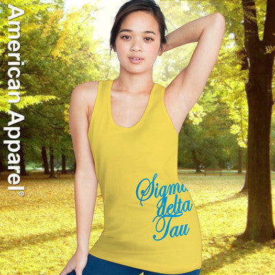 Sigma Delta Tau Sorority Printed Tank Top - American Apparel 2408 - CAD