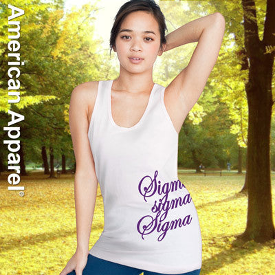 Sigma Sigma Sigma Sorority Printed Tank Top - American Apparel 2408 - CAD