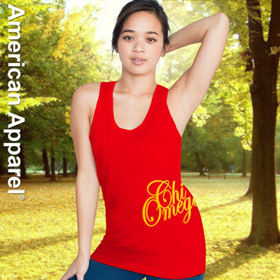 Chi Omega Sorority Printed Tank Top - American Apparel 2408W - CAD