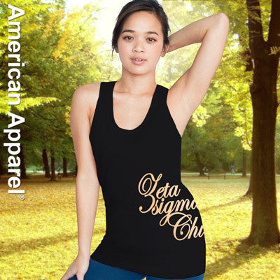 Zeta Sigma Chi Sorority Printed Tank Top - American Apparel 2408 - CAD