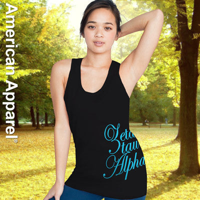 Zeta Tau Alpha Sorority Printed Tank Top - American Apparel 2408W - CAD