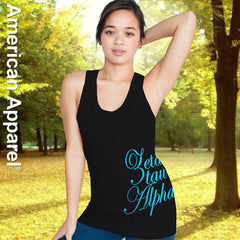 Zeta Tau Alpha Sorority Printed Tank Top - American Apparel 2408 - CAD