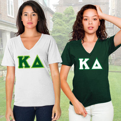 Kappa Delta Horizontal V-Neck Package - American Apparel 2456 - TWILL