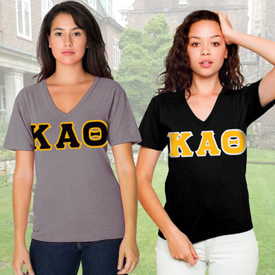 Kappa Alpha Theta Horizontal V-Neck Package - American Apparel 2456W - TWILL