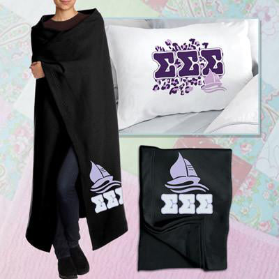 Sorority Cheetah Pillowcase / Blanket Package - CAD