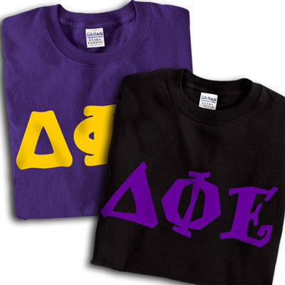 Delta Phi Epsilon Sorority Printed T Shirt Package Greek