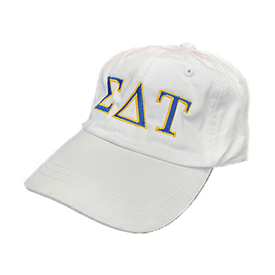 Sorority Pigment-Dyed Embroidered 2 Color Greek Letter Hat - Adams AD969 - EMB
