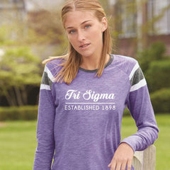 Sorority Long-Sleeve Printed Fanatic Shirt - Augusta Sportswear 3012 - CAD