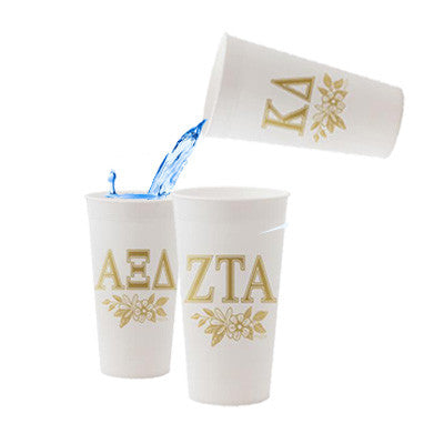 Sorority Gold Printed Tumbler - Alexandra Co. a3015