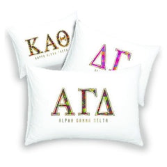 Sorority Floral Cotton Pillowcase - Alexandra Co. a3016