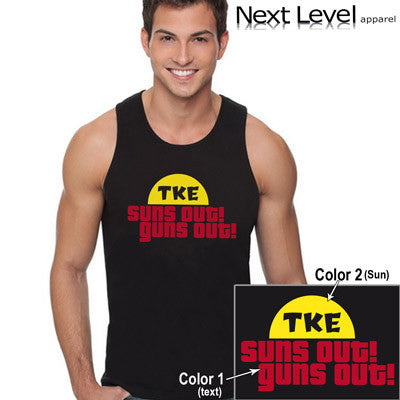 Suns Out Guns Out Printed Fraternity Tank - Next Level 3633 - CAD