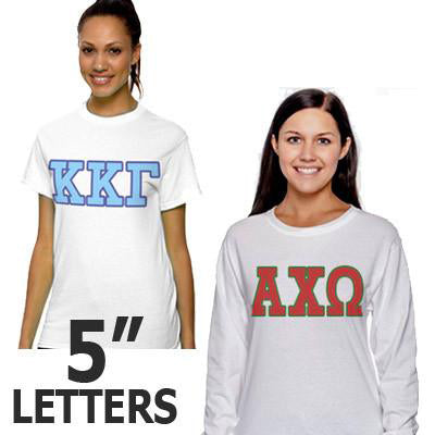 Sorority Longsleeve and T-Shirt Budget Package - Letters - SUB