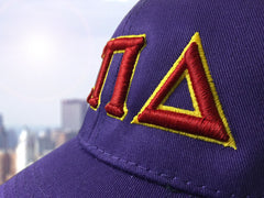 3D Embroidered Sorority Adjustable Hat - Port and Company CP80 - EMB