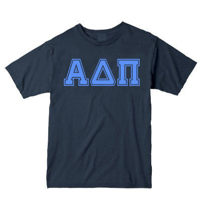 Sorority Comfort Colors Varsity Printed T-Shirt - C1717 - CAD