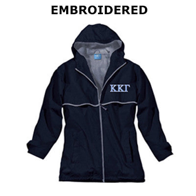 Sorority Embroidered Southern Rain Jacket - Charles River 5099 - EMB