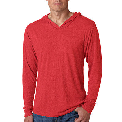 Fraternity Tri-Blend Long-Sleeve Hooded Tee with Flock - Next Level 6021 - TWILL