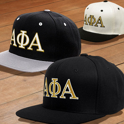 Alpha Phi Alpha Snapback with Embroidered Letters - Greek Apparel b0afb2745ce