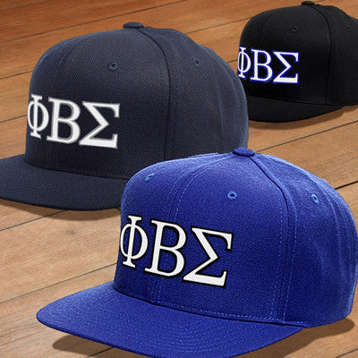 58c44cca5a9 Phi Beta Sigma Snapback with Embroidered Letters - Fraternity Clothing