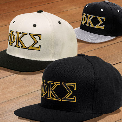 867d16cc928 Phi Kappa Sigma Snapback with Embroidered Letters - Greek Gear