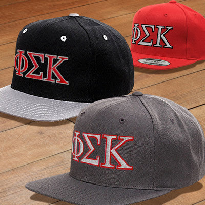 ddcd6db5cee Phi Sigma Kappa Snapback with Embroidered Letters - Greek Gear