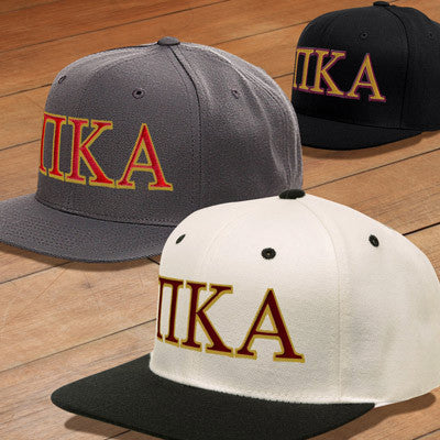 50e20bb5 Pi Kappa Alpha Snapback with Embroidered Letters - Fraternity Apparel