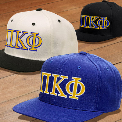 1b75e857 Pi Kappa Phi Snapback with Embroidered Letters - Fraternity Clothing