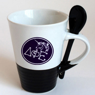 Delta Phi Epsilon Sorority Coffee Mug with Spoon - 6150