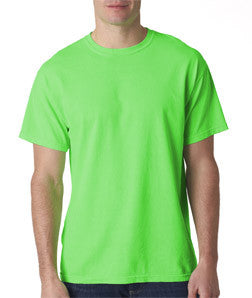 Greek Neon T-Shirt with Twill Letters - Gildan 61 - TWILL