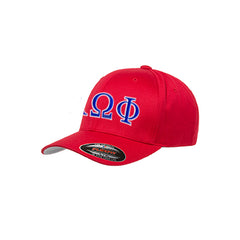 Alpha Omega Phi Flexfit Fitted Hat - Yupoong 6277 - EMB