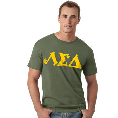 Fraternity Printed Softstyle Tee with 10 Fonts - Gildan 64000 - CAD