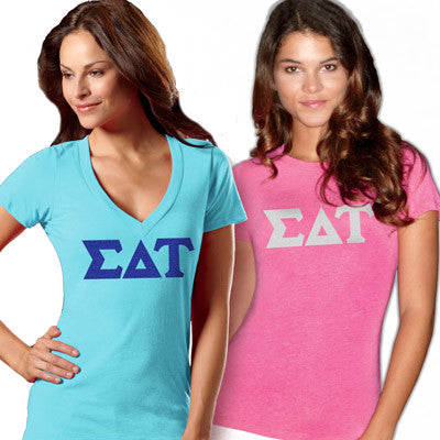 Sorority Ladies Tri-Blend Tee Package with Flock - TWILL