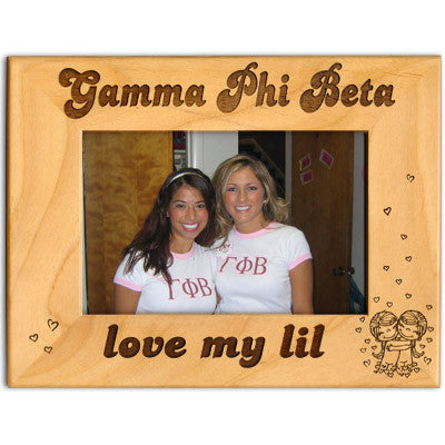 Sorority love my lil 4x6 frame greek accessories for Lil flip jewelry collection
